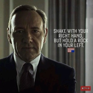 The brilliant Kevin Spacey as Frank Underwood in 'House of cards'. Deviousness personified. Photo: weheartit.com