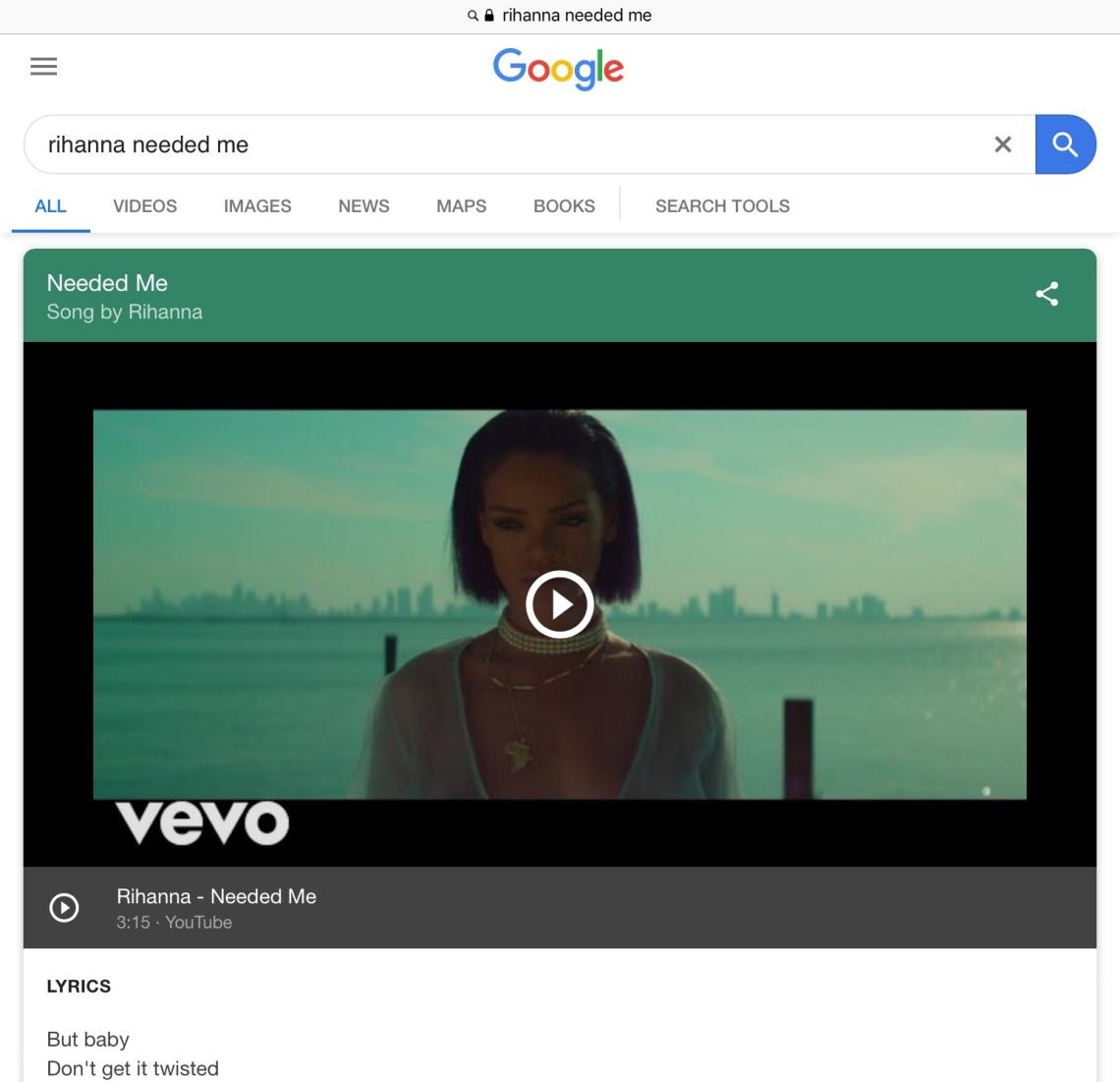 Rihanna. Image: Google search.